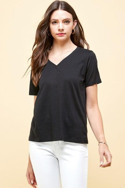 Supima V Short Sleeve Top
