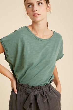 Raw Hem Basic Top