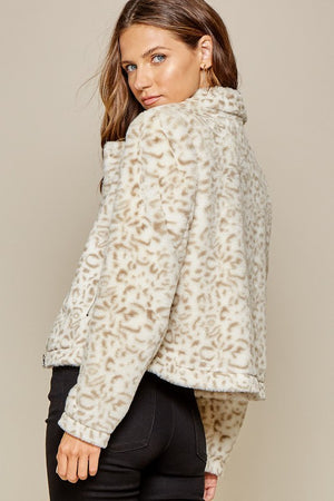 Soft Leopard Fur Jacket