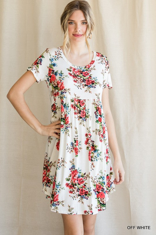 Floral Knit Babydoll Dress