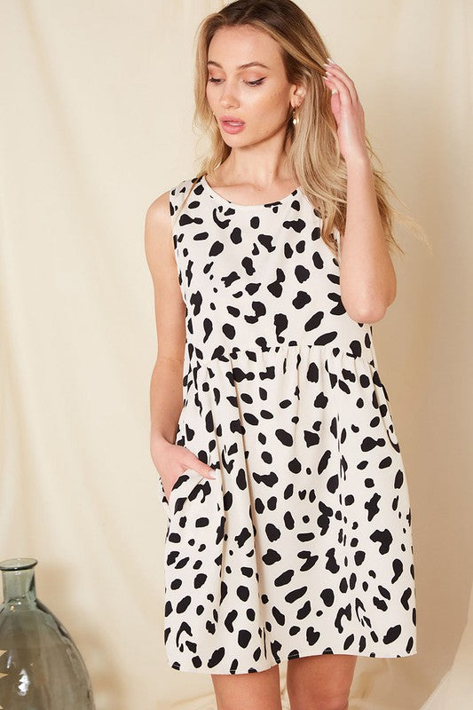 Animal Babydoll Pocket Dress