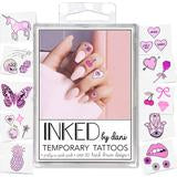 Inked Temporary Tattoos - Pretty in Pink Finger Tats - Free Souls Boutique