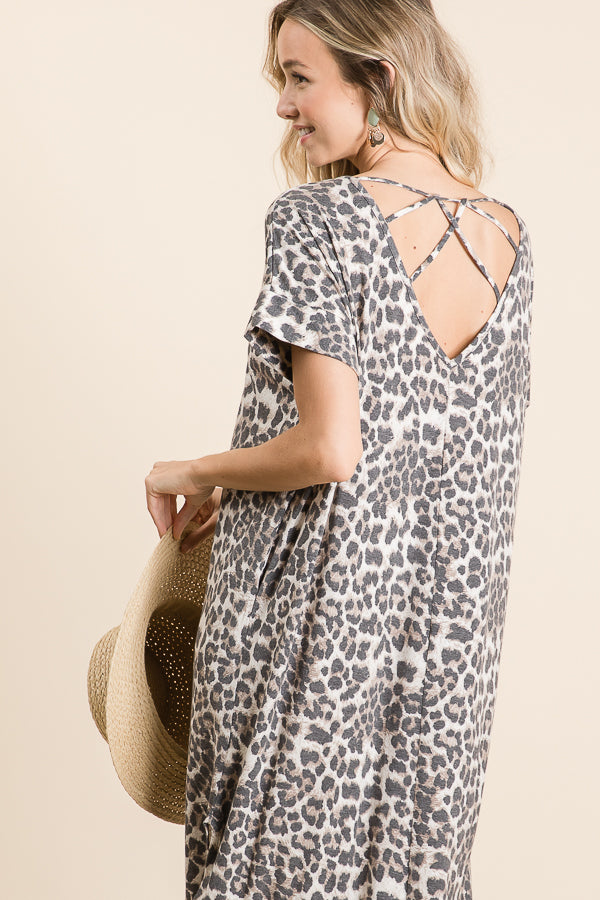 Leopard Knit Maxi Dress