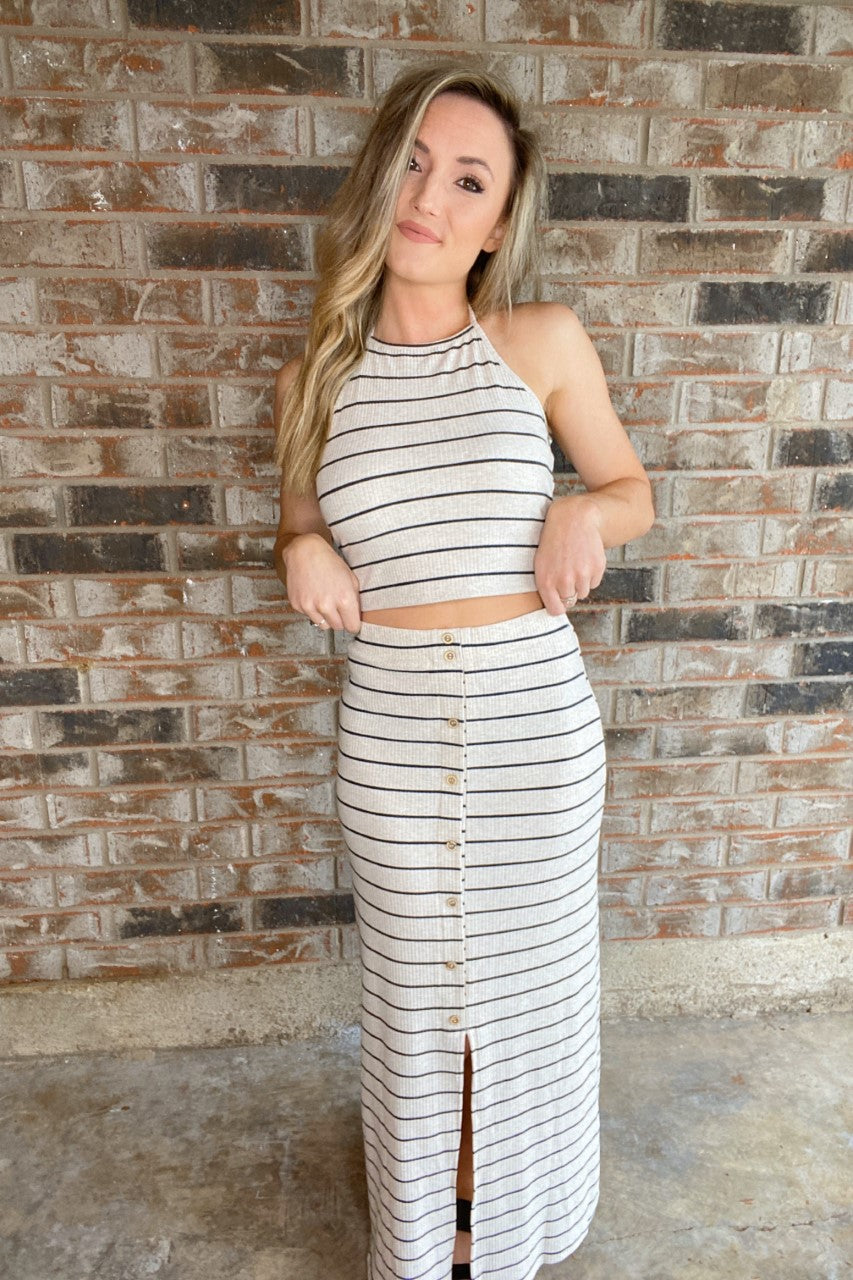 Striped Maxi Set