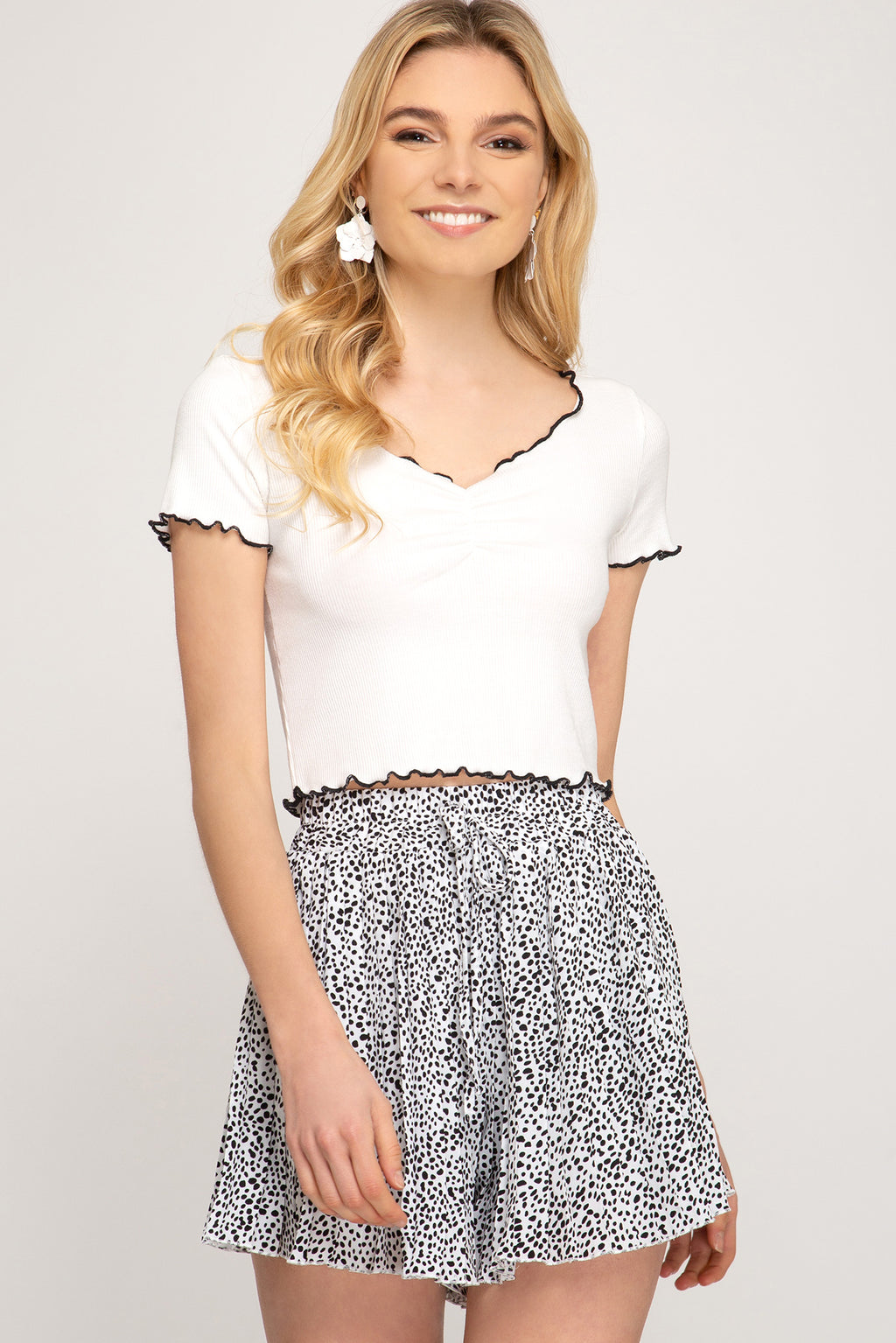 Dalmation Knife Pleat Shorts - Free Souls Boutique