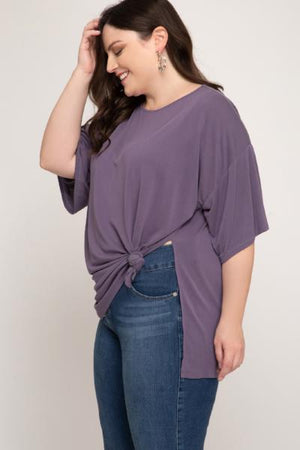 Plus Side Knot Cupro Top - Free Souls Boutique
