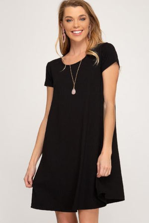 SS Ribbed Swing Dress - Free Souls Boutique