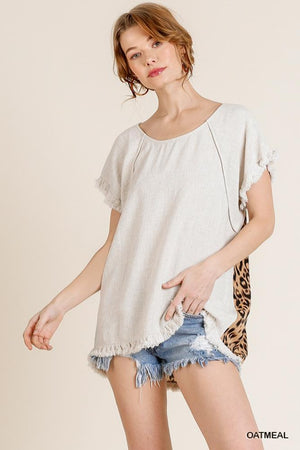 Animal Back Linen Top