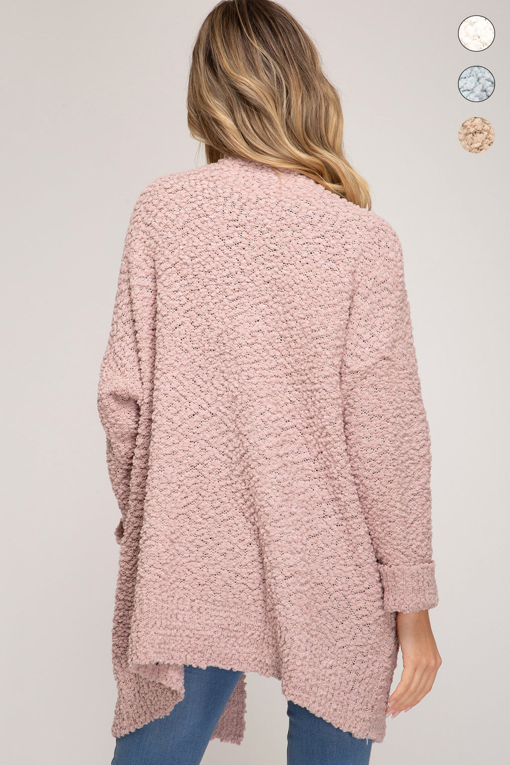 Open Boucle Cardigan