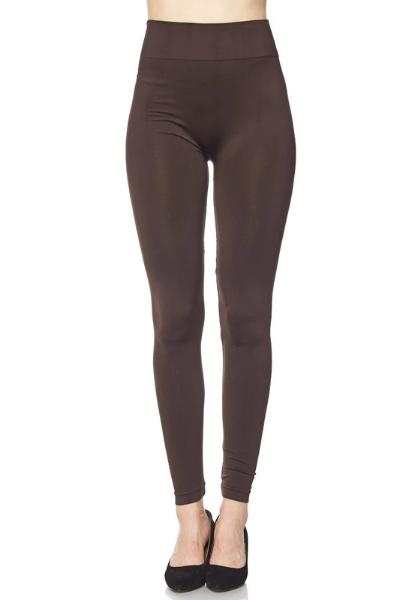 Plus Brown Leggings - Free Souls Boutique