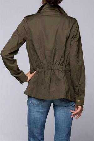 Cambria Olive Utility Jacket - Free Souls Boutique