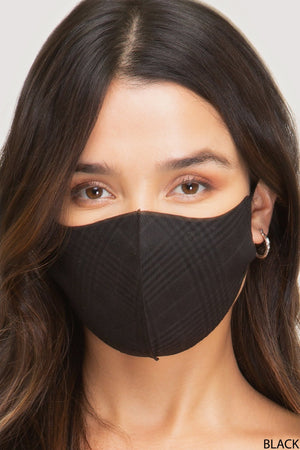 Houndstooth Print Face Mask