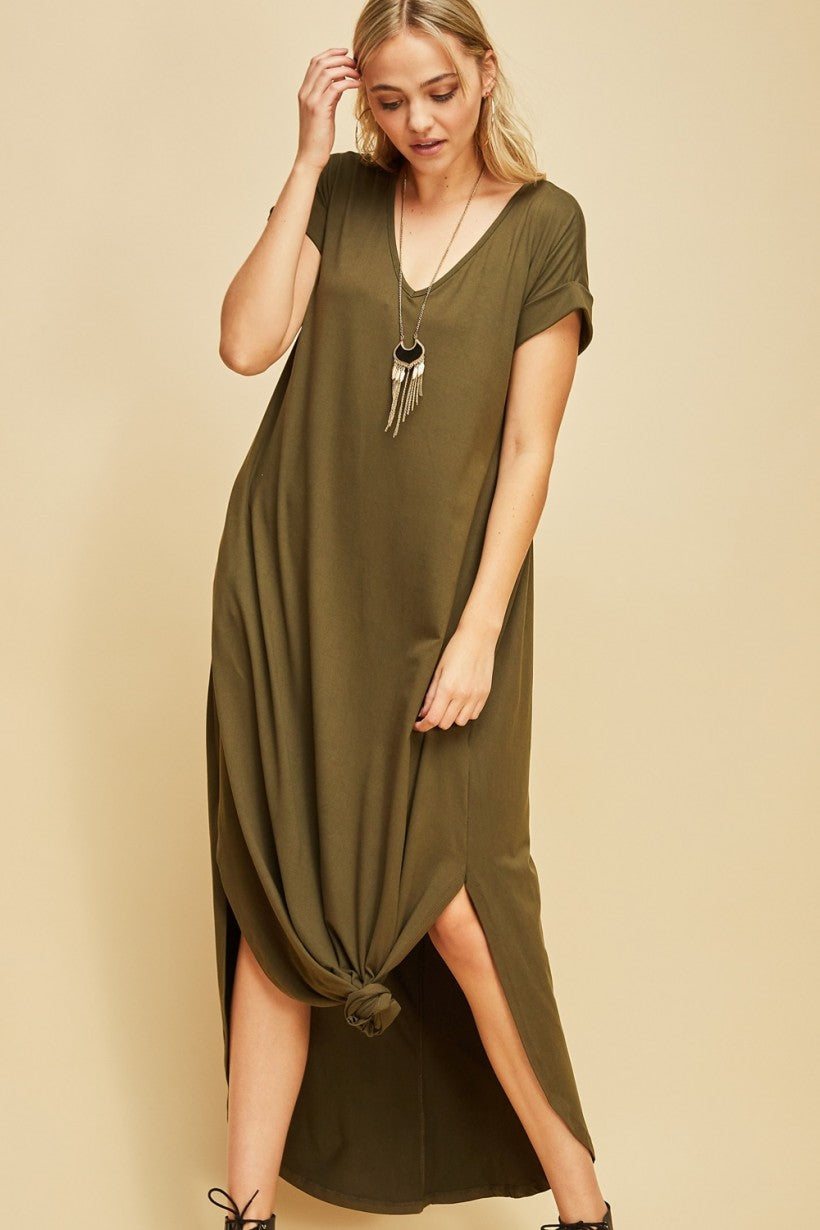 SS TShirt Maxi Dress - Free Souls Boutique