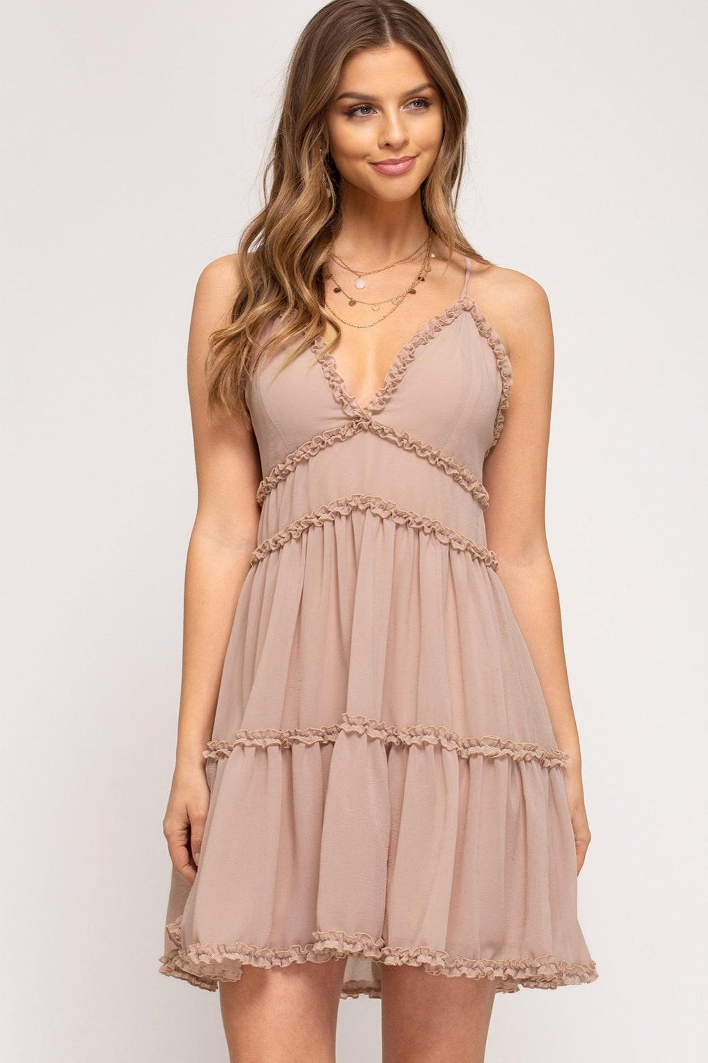 Ruffle Tier Cami Dress