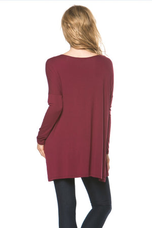 Piko Style Long Sleeve Tunic Top - Free Souls Boutique