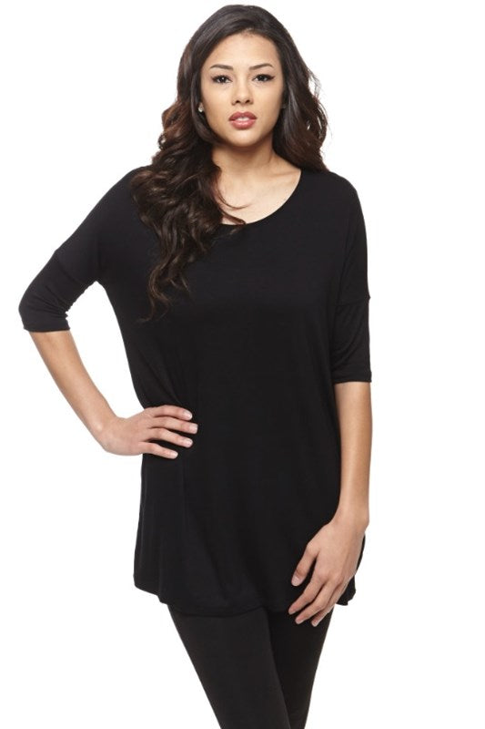 Piko Style Short Sleeve Tunic Top - Free Souls Boutique