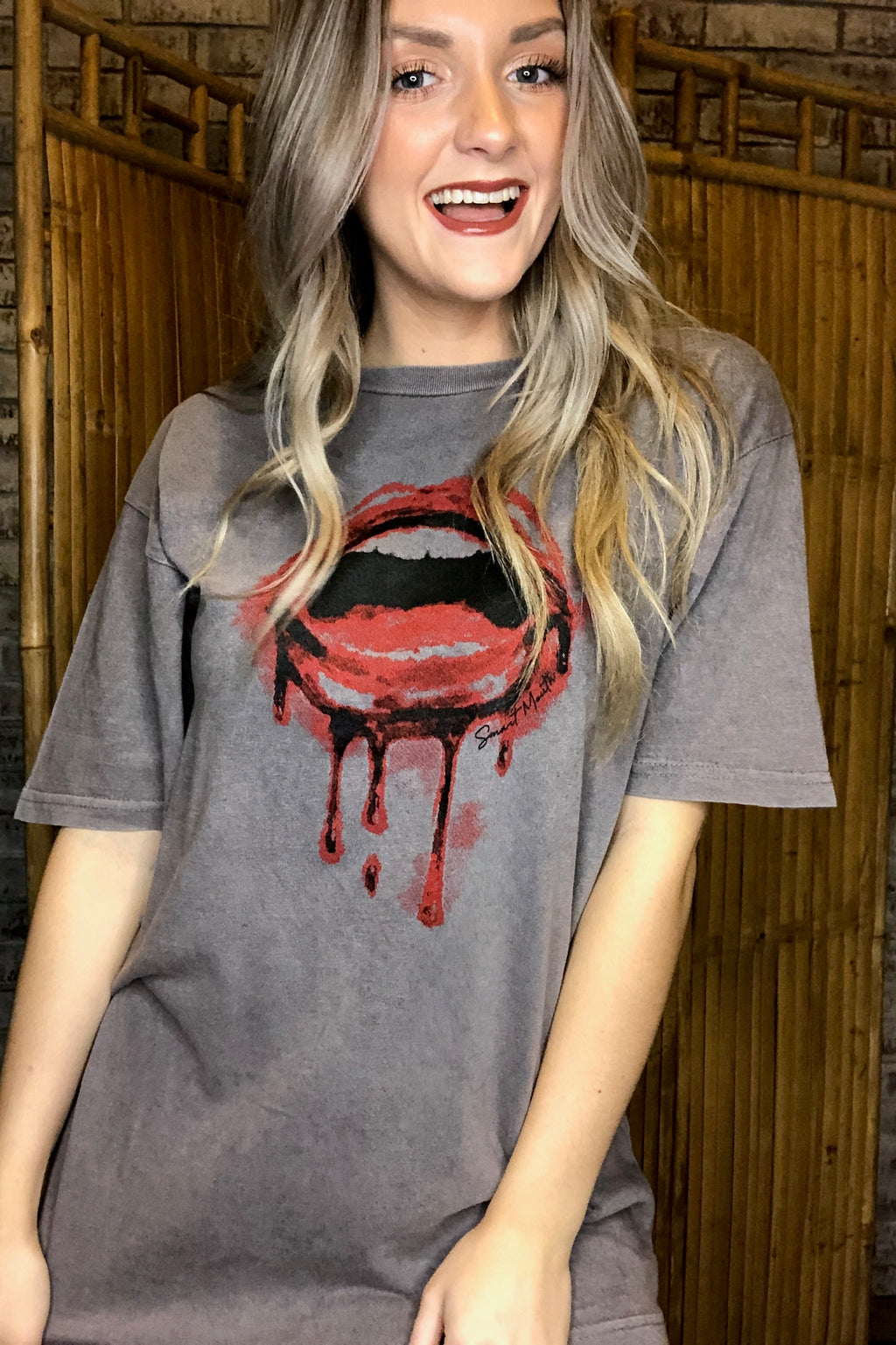 Drip Lips Mineral Wash Graphic Tee