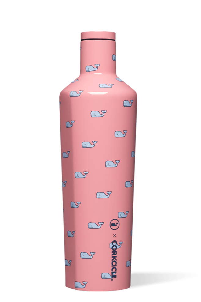Corkcicle 25 oz Canteen - Vineyard Vines Whales Repeat
