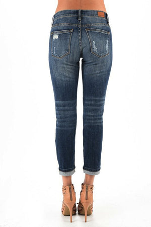 Stretchy Destroyed Boyfriend Jeans - Free Souls Boutique