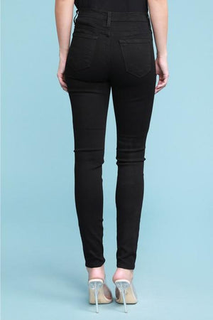 High Waist Black Skinny Jeans