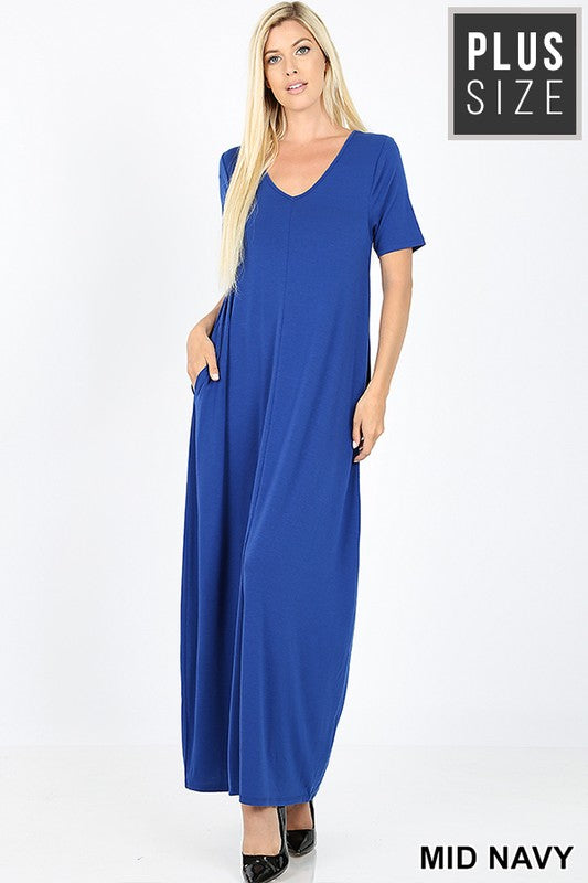 Plus Zen Basic Maxi Dress - Free Souls Boutique