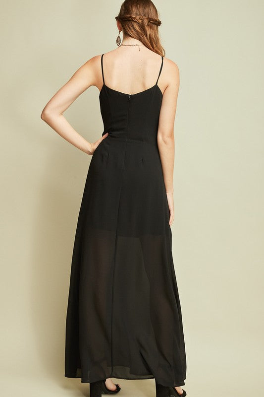 Twisted Bust Sleeveless Maxi Dress - Free Souls Boutique