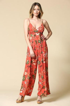 Sleeveless Floral Jumpsuit - Free Souls Boutique