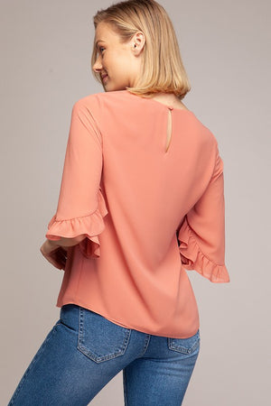 Ruffle Half Sleeve Top - Free Souls Boutique