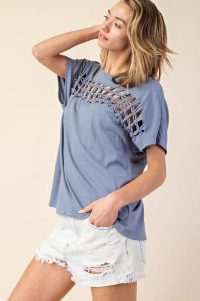 Braided Cutout Front Top - Free Souls Boutique