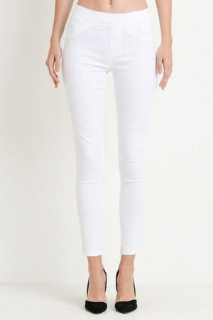 Elastic Waist Skinny Jeans - Free Souls Boutique