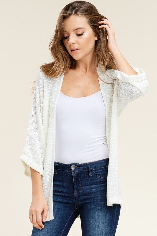 Textured Kimono Sweater Cardigan - Free Souls Boutique