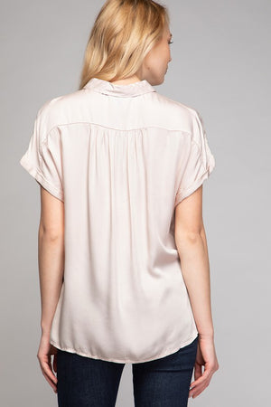 Half Placket Collar Top