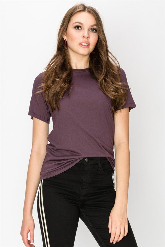 Crewneck Short Sleeve Top - Free Souls Boutique