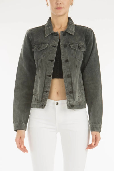 Grey Denim Jacket - Free Souls Boutique