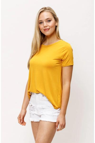 Banded Neck SS Top - Free Souls Boutique