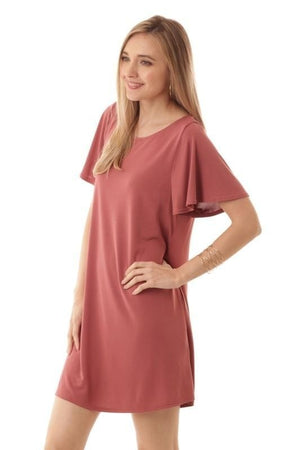 Loose Sleeve A-Line Swing Dress - Free Souls Boutique