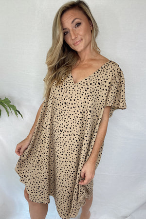 Plus Spotted Shift Dress