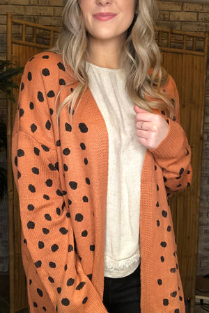 Spotted Sweater Cardigan