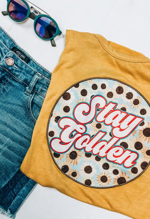 Stay Golden Patch Tee