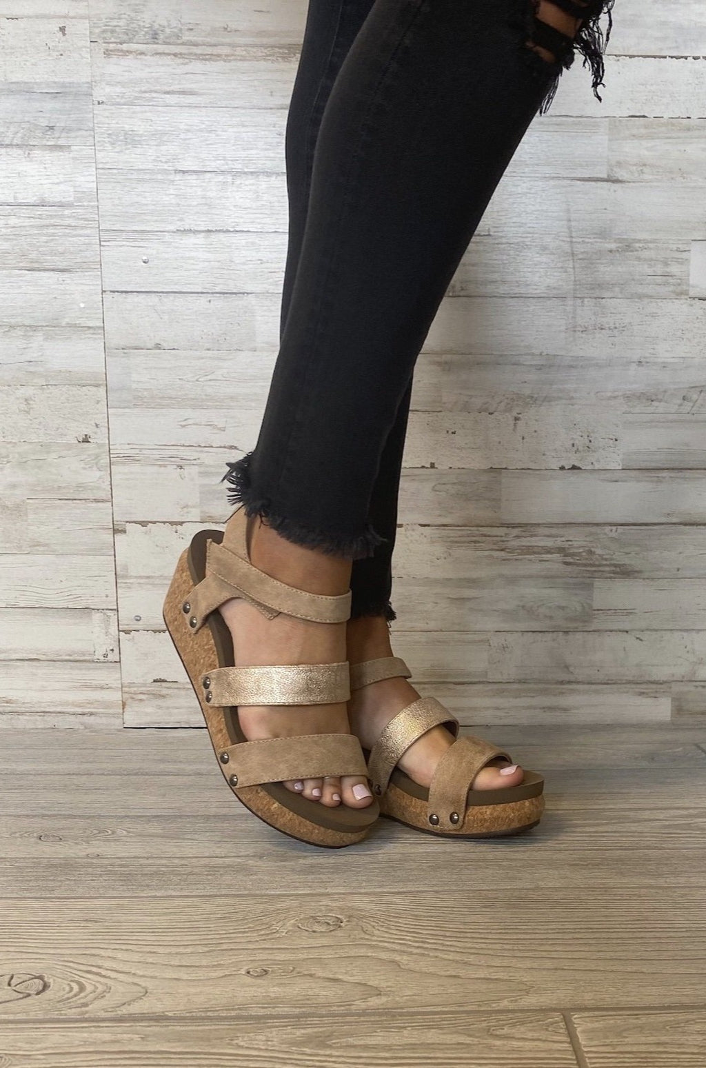 Cona Strappy Wedge