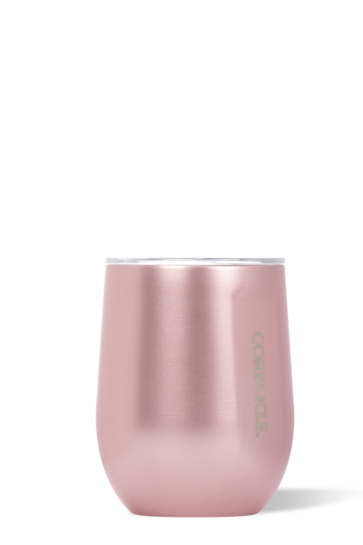 Corkcicle 12 oz Stemless Wine Glass - Rose Metallic - Free Souls Boutique