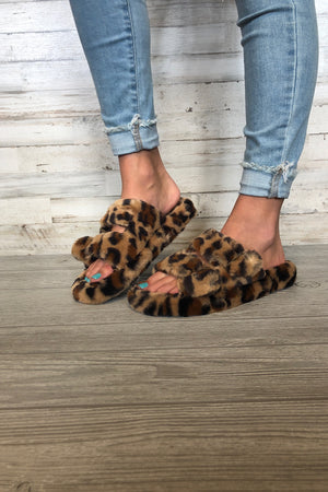 Leopard Snuggle Slippers