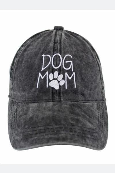 Dog Mom Hat - Charcoal - Free Souls Boutique