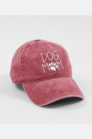 Dog Mom Hat - Burgundy - Free Souls Boutique