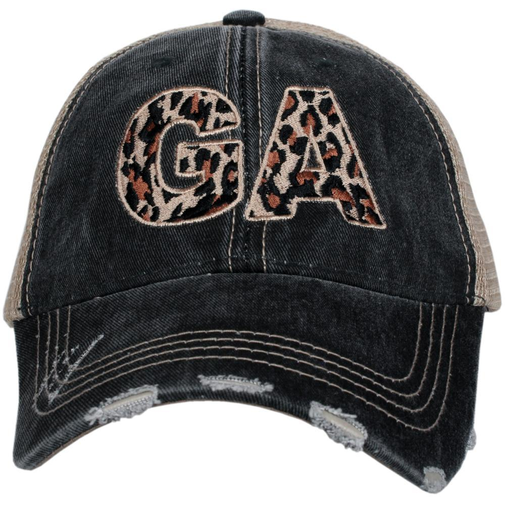 Georgia Leopard Trucker Hat
