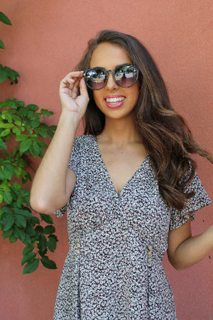 Cat Eye Frame Sunglasses - Free Souls Boutique
