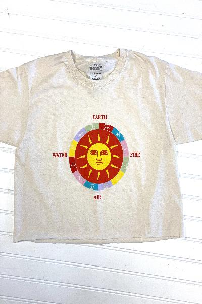 Sun Signs Cropped Graphic Tee - Free Souls Boutique