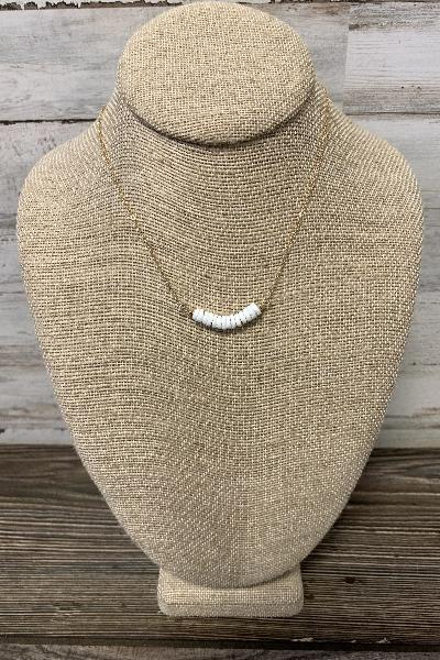 Clam Shell Bar Necklace - Free Souls Boutique