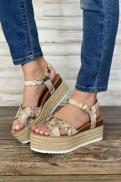 Ahead Python Platform Sandals - Free Souls Boutique