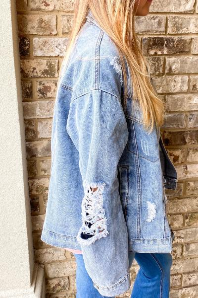 Torn Distressed Denim Jacket